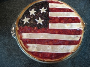 Flag pie rhymes with magpie