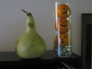 Gourd & Orange Jack O Lanterns