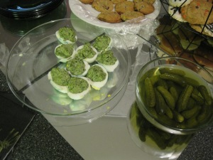 Rotten Deviled Eggs & Goblin Fingers