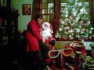 Heather and Santa