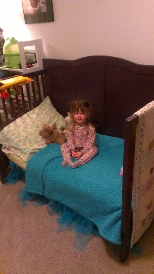 Evelyn's bed