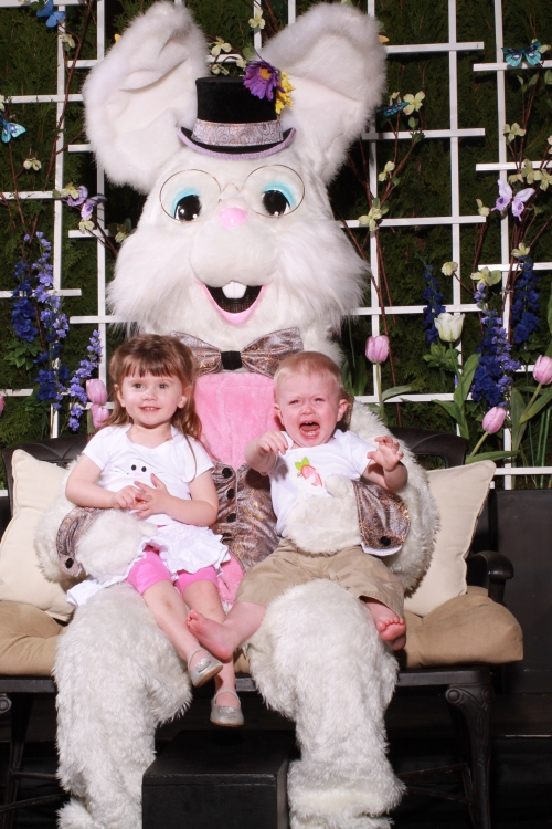 Sad with the Easter Bunny